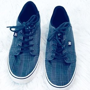 DC $55 Plaid Canvas Sneakers